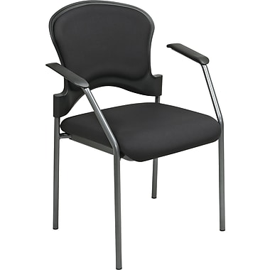Office Star Proline II® Fabric Guest Chair, Contour Black