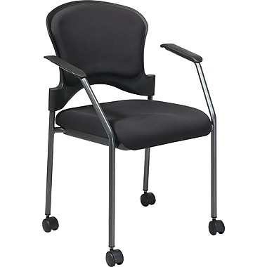 Office Star Proline II® Fabric Rolling Guest Chair