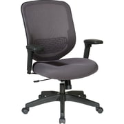 Office Star Space® Mesh Managers Chair with Adjustable Arm, Charcoal