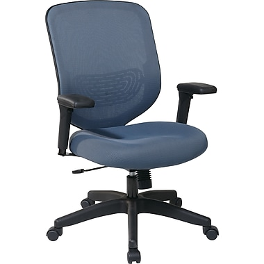 Office Star Space® Mesh Managers Chair with Adjustable Arm, Blue