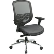 Office Star Space®Seating Breathable Matrix Mesh Back & Seat Office Chair with Chrome Base,Charcoal
