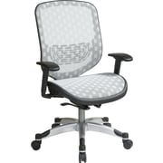 Office Star Space Seating High-Back Mesh Executive Chair, Adjustable Arms, White