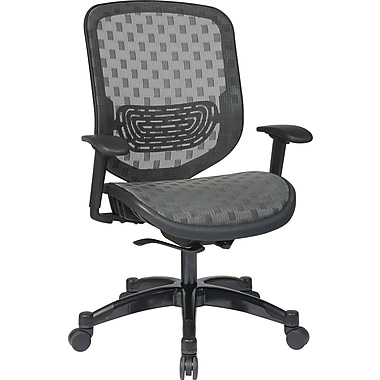 Office Star 829-R22C728P Space Seating Mesh High-Back Executive Chair with Adjustable Arms, Charcoal