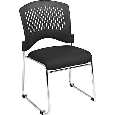 Office Star Proline II® Plastic Back and Coal FreeFlex® Fabric Guest Chair, Black