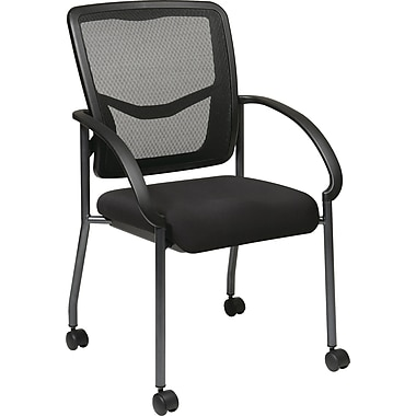 Office Star Proline II® ProGrid® Back Fabric Guest Chair with Arm, Black