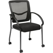 Office Star Proline II ProGrid Steel Guest Chair, Black (85640-30)