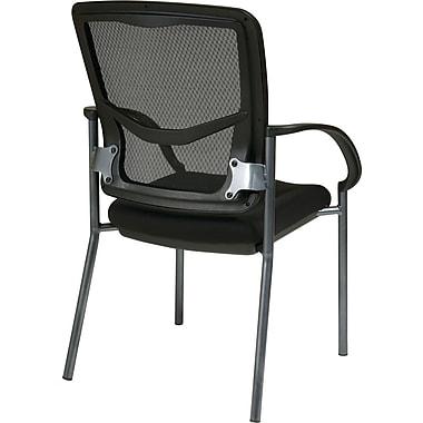 Office Star Proline II® ProGrid® Back FreeFlex® Fabric Guest Chair, Coal