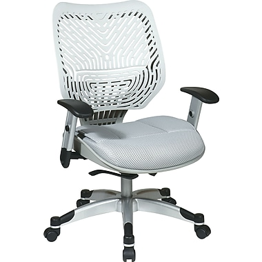 Office Star Space® REVV® Series Fabric Self Adjusting SpaceFlex® Back Manager's Chair, Ice/Shadow