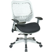 Office Star Space® REVV® Series Fabric Self Adjusting SpaceFlex® Back Manager's Chair, Ice/Raven