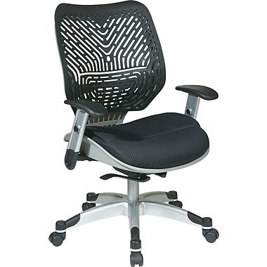 Office Star Space Seating Mid-Back Mesh Manager's Chair, Adjustable Arms, Black (86-M33C625R)