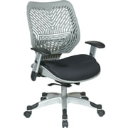 Office Star Space® REVV® Series Fabric Self Adjusting SpaceFlex® Back Manager's Chair, Fog/Raven