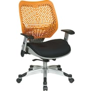 Office Star Fabric Managers Office Chair, Tang/Raven, Adjustable Arm (86-M35C625R)