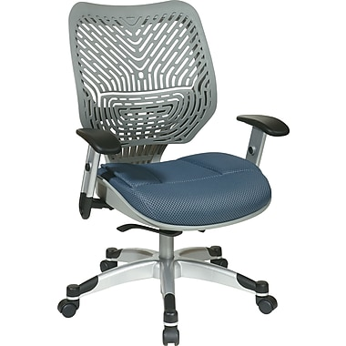 Office Star Space® REVV® Series Fabric Self Adjusting SpaceFlex® Back Manager's Chair, Fog/Blue Mist