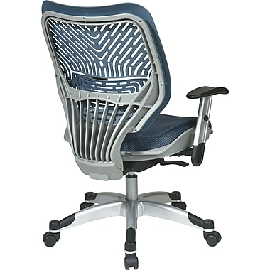 Office Star Space® REVV® Series Fabric Self Adjusting SpaceFlex® Back Manager's Chair, Blue Mist