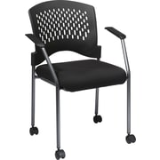 Office Star Proline II ProGrid Metal Guest Chair, Black (8640-231)