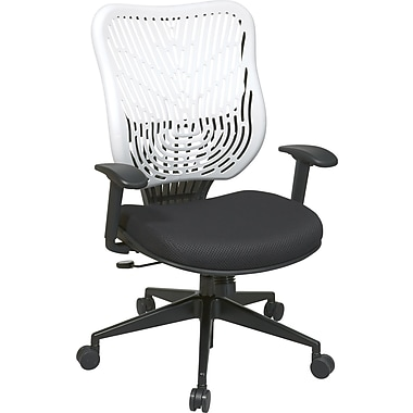 Office Star SpaceFlex® Mesh Back Manager Chair with Adjustable Arm, Ice