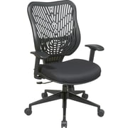 Office Star Space Seating Mid-Back Mesh Manager's Chair, Adjustable Arms, Black (88-33BB918P)