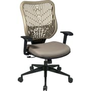 Office Star SpaceFlex® Fabric Back and Mesh Seat Manager Chair with Adjustable Arm, Latte