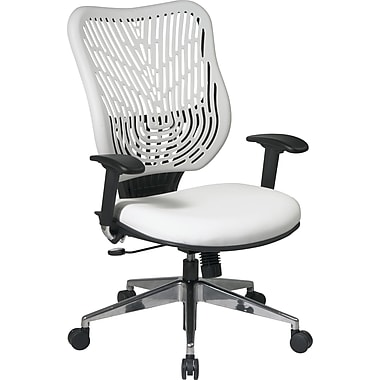 Office Star SpaceFlex® Mesh Back Manager Chair with Self Adjusting Arm, Ice