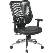 Office Star SpaceFlex® Fabric Back and Mesh Seat Manager Chair with Adjustable Arm, Black Mist