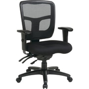 Office Star 92343-30 Pro-Line II Fabric Managers Chair with Adjustable Arms, Coal