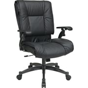 Office Star Proline II® Leather Deluxe Top Grain Conference Chair, Black