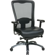 Office Star ProGrid® High Back Office Chair, Eco Leather, Black