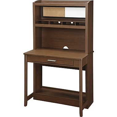 Office Star OSP® Designs Alden Computer Desk, Light Old Wood