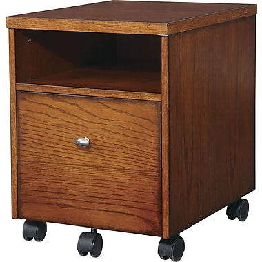 Office Star Aurora Mobile File Cabinet, Oak