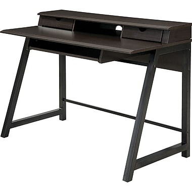 Office Star OSP® Designs Arcadua Writing Desk, Dark Oldwood Laminate