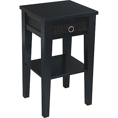 Office Star Avenue Six® 29in. H x 17in. W x 15 1/2in. D Wood and MDF Banyan Phone Table, Black