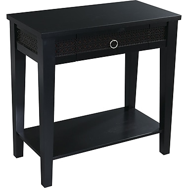 Office Star Avenue Six® 30in. H x 30in. W x 15 3/4in. D Wood and MDF Banyan Foyer Table, Black