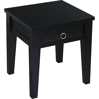 Office Star Avenue Six® 20in. H x 17in. W x 19in. D Wood and MDF Banyan End Table, Black