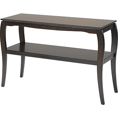 Office Star Brighton 28 1/2''H x 45 1/2''W x 15 3/4''D Veneers and Solid Wood Sofa Table, Espresso