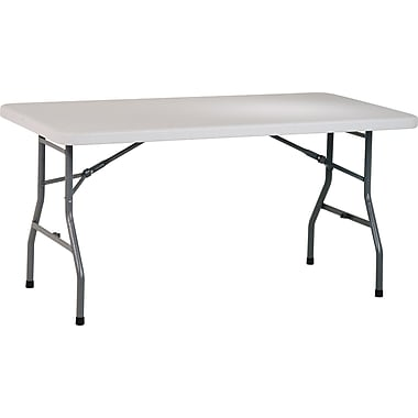 Office Star WorkSmart™ 5' Resin Multi Purpose Table, White/off-white