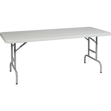 Office Star WorkSmart™ 29 1/4in. H x 72in. W x 30in. D Resin Multi Purpose Table, Silver