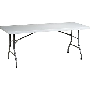 Office Star WorkSmart™ 6' Resin Multi Purpose Table, Light Gray
