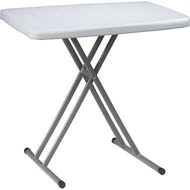 Office Star WorkSmart™ 28in. H x 30in. W x 19 1/2in. D Resin Personal Tray Table, Gray, 4/Pack