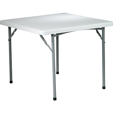 Office Star WorkSmart™ 29in. H x 36in. W x 36in. D Resin Square Table, Light Gray
