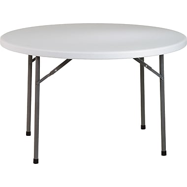 Office Star WorkSmart™ 48in. Resin Round Multi Purpose Table, Light Gray