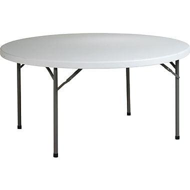 Office Star WorkSmart™ 60in. Resin Round Multi Purpose Table, Light Gray