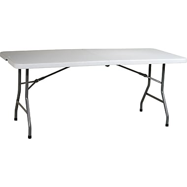 Office Star WorkSmart™ 29 1/4in. H x 72in. W x 30in. D Resin Center Fold Multi Purpose Table, Light Gray