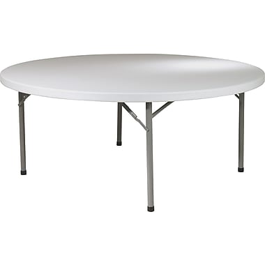 Office Star WorkSmart™ 71in. Resin Round Multi Purpose Table, Light Gray