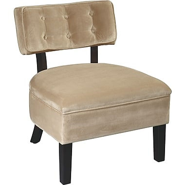 Office Star Ave Six Velvet Accent Chair, Coffee Velvet (CVS263-C27)