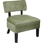 Office Star Ave Six Velvet Accent Chair, Spring Green (CVS263-G28)