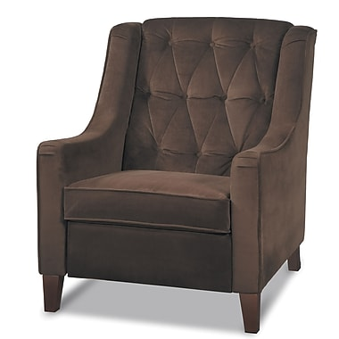 Office Star Avenue Six® Wood Curves Tufted Accent Chairs