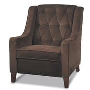 Office Star Ave Six Velvet Arm Chair, Chocolate Velvet (CVS51-C12)