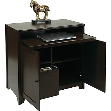 Office Star OSP® Designs Dennison Computer Desk Cabinet, Coffee Bean