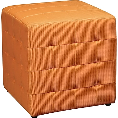 Office Star Avenue Six® Detour 15in. Fabric Cube, Orange