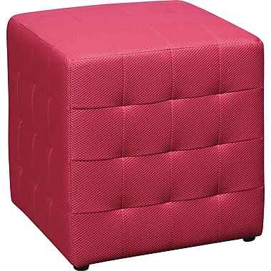 Office Star Avenue Six® Detour 15in. Fabric Cube, Pink